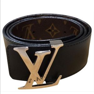 9cbbcd204d8e Louis Vuitton. Louis Vuitton monogram noir brown black belt
